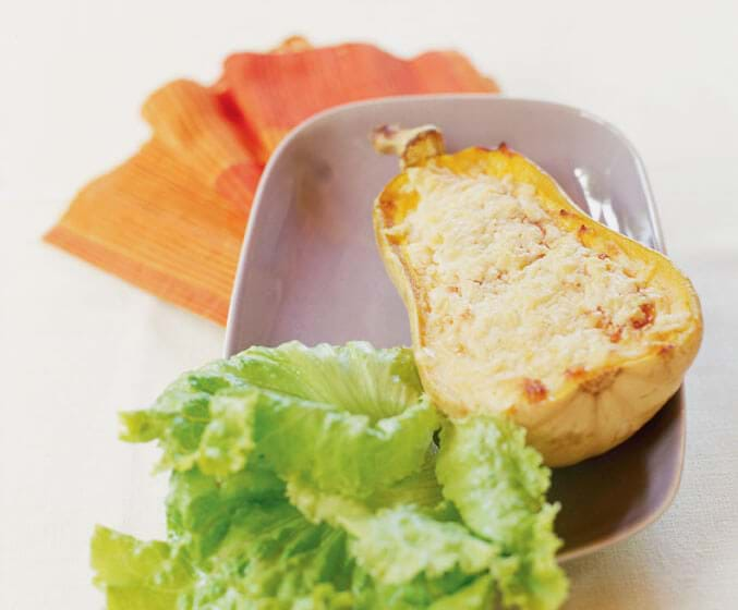 Gratinéed Squash With Egg Cream Filling