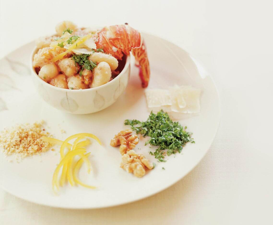 Gnocchi With Lobster And Walnut Sauce (1)
