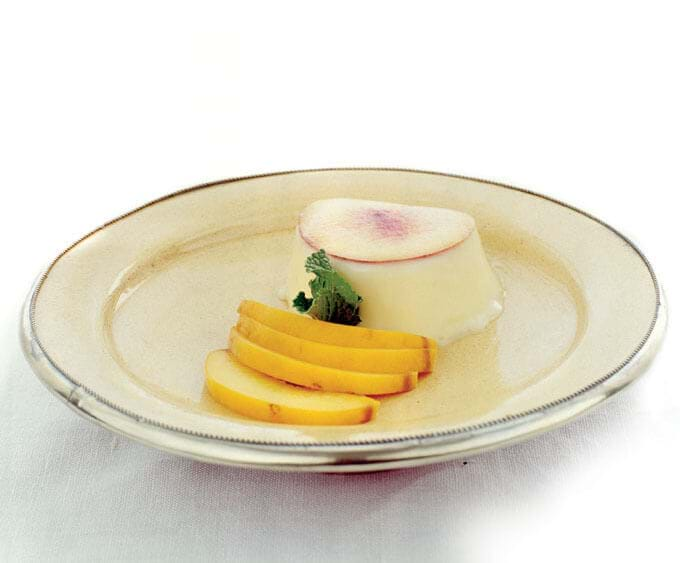 White Chocolate And Peach Pannacota