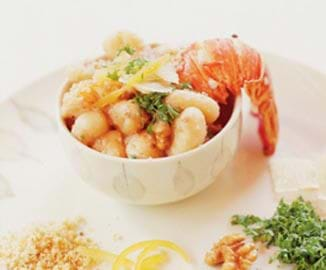 Gnocchi With Lobster And Walnut Sauce