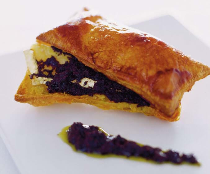 Brie And Black Olives Pastry