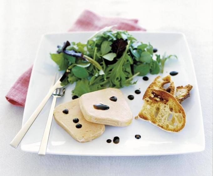 Foie Gras With Balsamic Vinegar And Salad